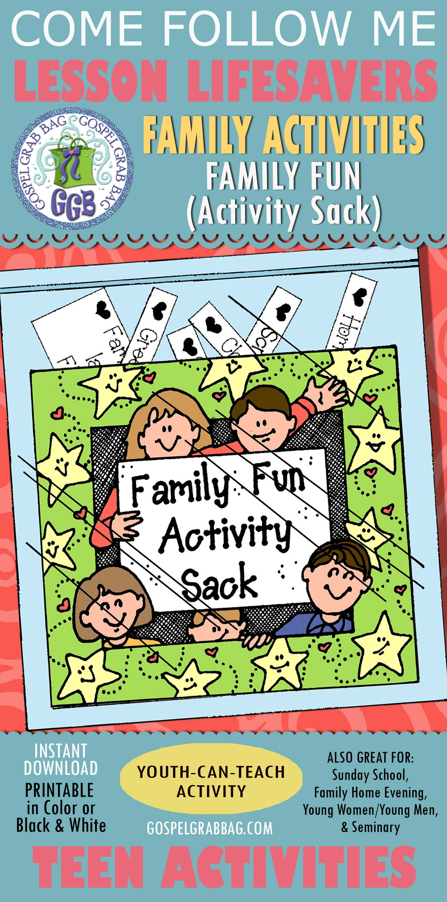 Family Activities Lds Lesson Activity Family Fun