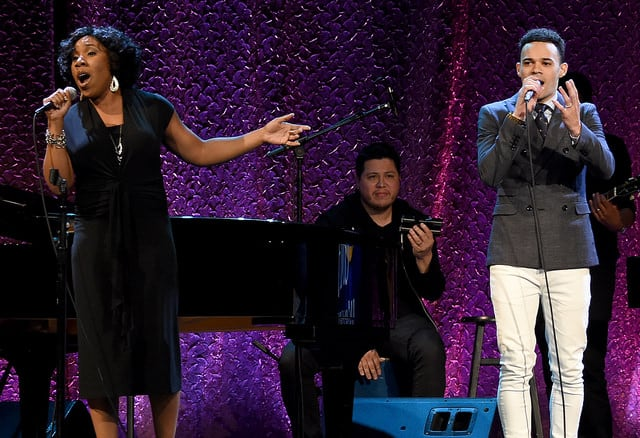 Melinda Doolittle and Tauren Wells (Photo by Rick Diamond/Getty Images for GMA)