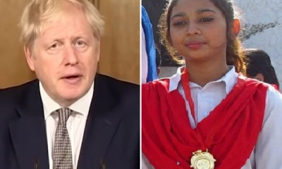 Boris Johnson e Maira Shahbaz