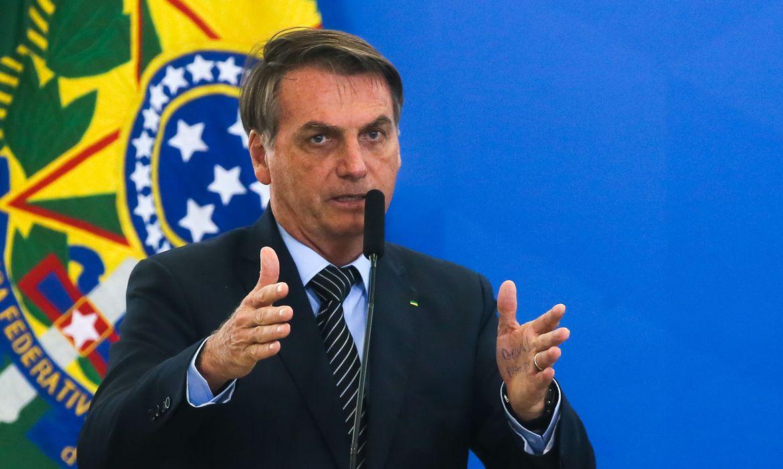 O presidente da República,Jair Bolsonaro