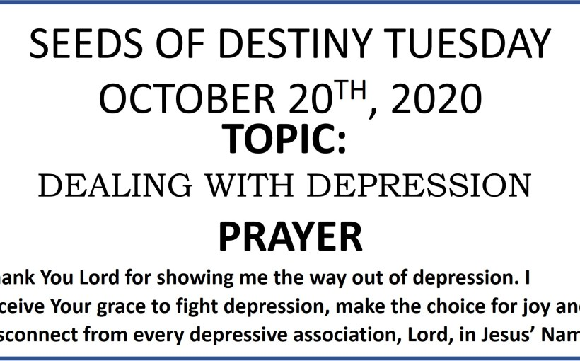 Seeds of Destiny Tuesday 20th October 2020 by Dr Paul Enenche