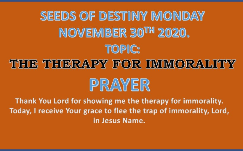 Seeds of Destiny Monday 30th November 2020 by Dr Paul Enenche