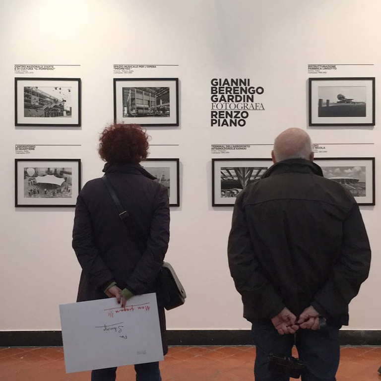 Maestro Gianni Berengo Gardin looking at his...