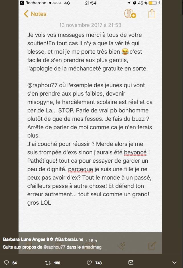 Les Vacances des Anges : Clashée par Raphaël Pépin, Barbara Lune réplique !