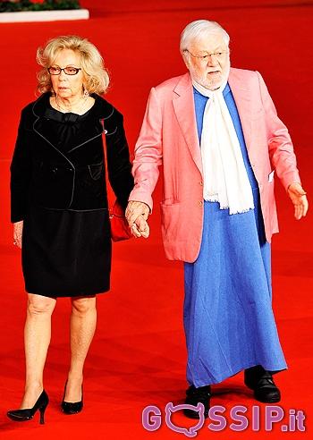 Paolo Villaggio con la moglie al Festival del Cinema di Roma  Foto e Gossip