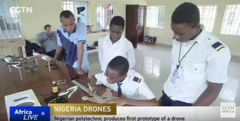 drone - 17-year-old Nigerian Polytechnic Student Leads The Construction Of A Locally-Made Drone [Photos]
