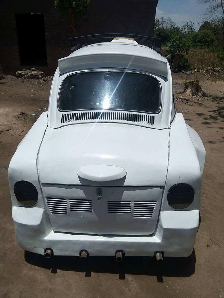 isa3 - Nigerian Man Redesigns A Beetle Tortoise Car Into A Rolls Royce [Photos]