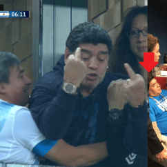 How To Chair The Meeting Quickie Wheelchair Parts Argentina Legend Diego Maradona Collapses Moment After Giving Nigeria Middle Finger At World ...