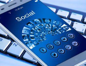 social media in phone