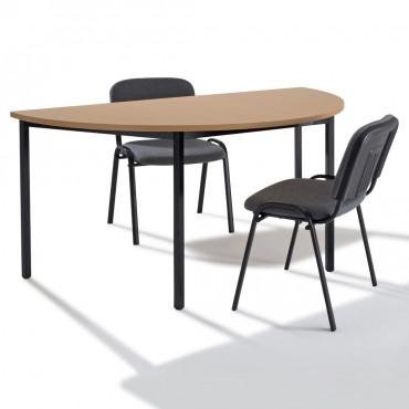 table de reunion modulable demi ronde