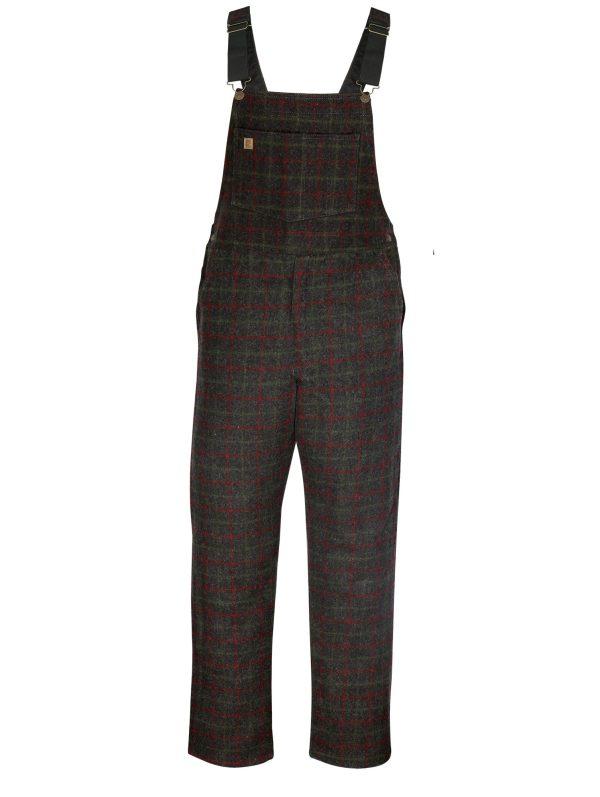 Big Bill 28 Oz. Charcoal Plaid Wool Bib Overalls - 190