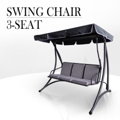 Hanging Chair Outdoor Australia Travel High Target 3 Seat Swing Canopy Garden Bench Seater Steel Frame