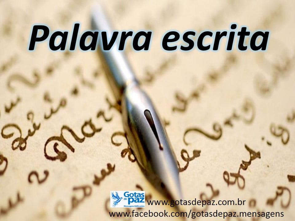 Palavra escrita