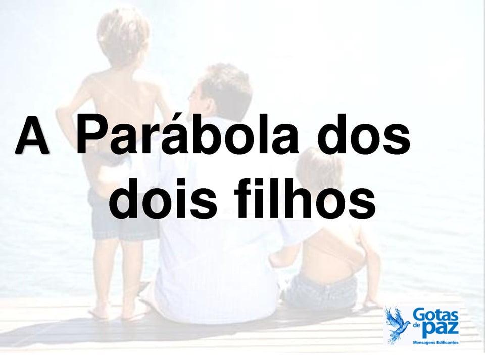 A PARÁBOLA DOS DOIS FILHOS