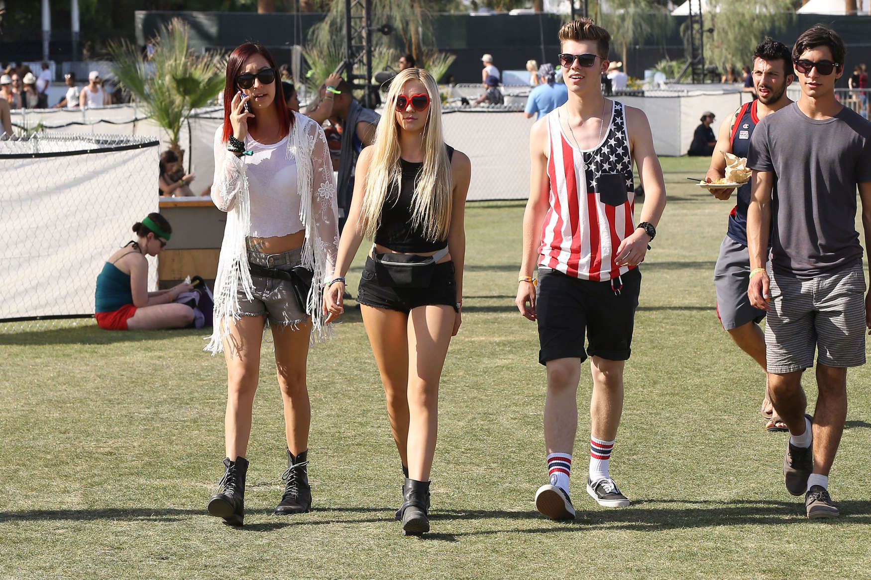 Ava Sambora Legs Show at Coachella 2014 -10