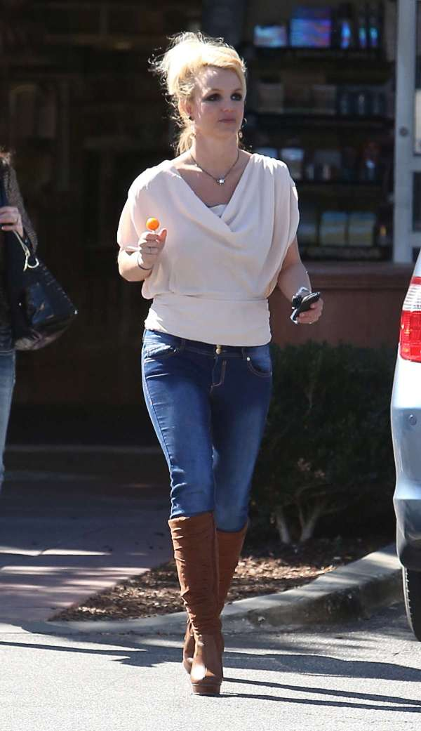 Britney Spears Jeans and Boots