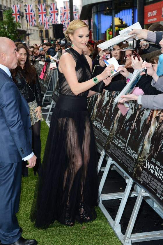 Charlize Theron at the Snow White and the Huntsman World Premiere in London