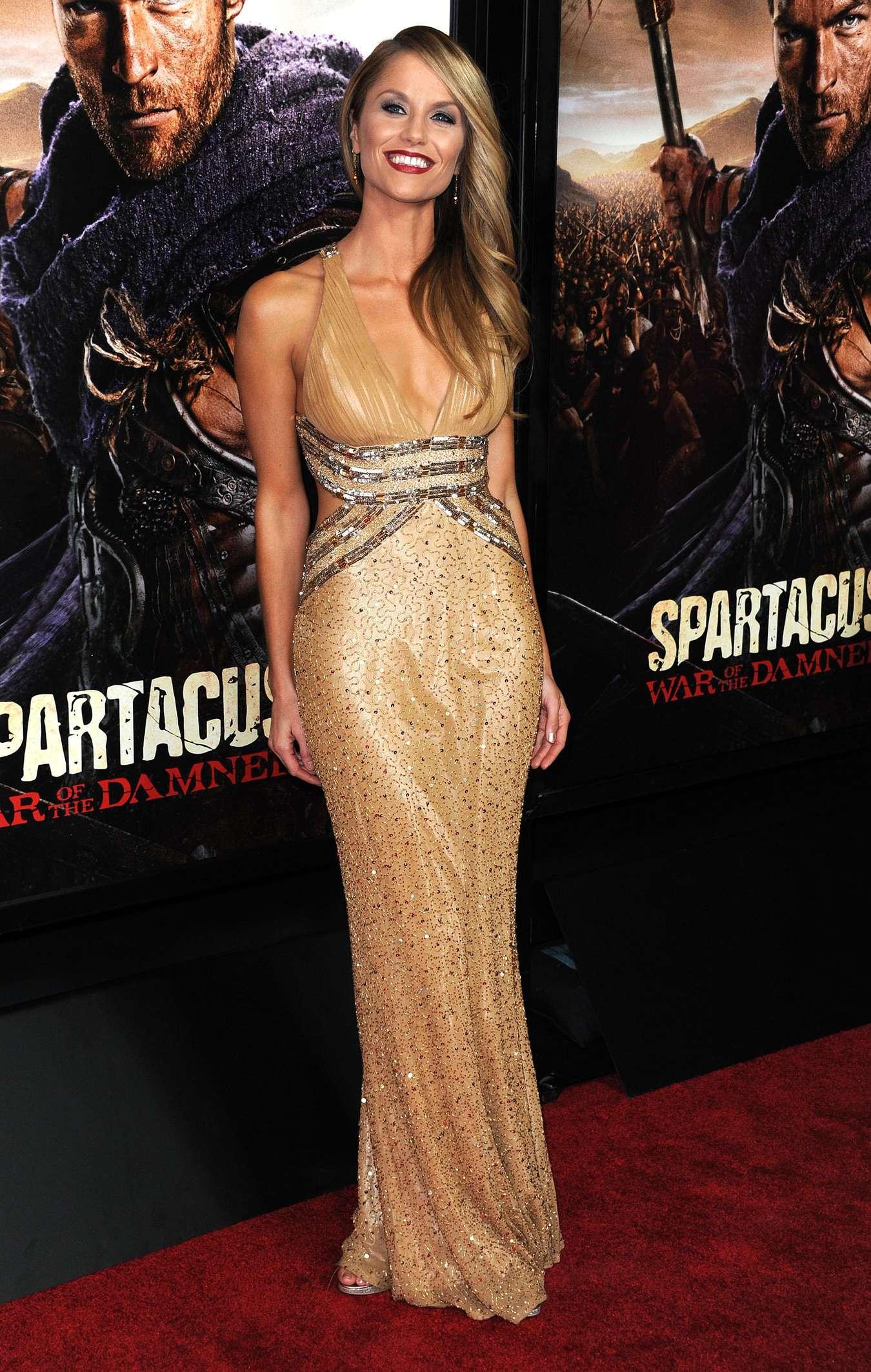 Ellen Hollman In Gold Dress 04 Gotceleb