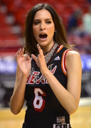 Genesis Rodriguez Heat Vs Thunder Game GotCeleb