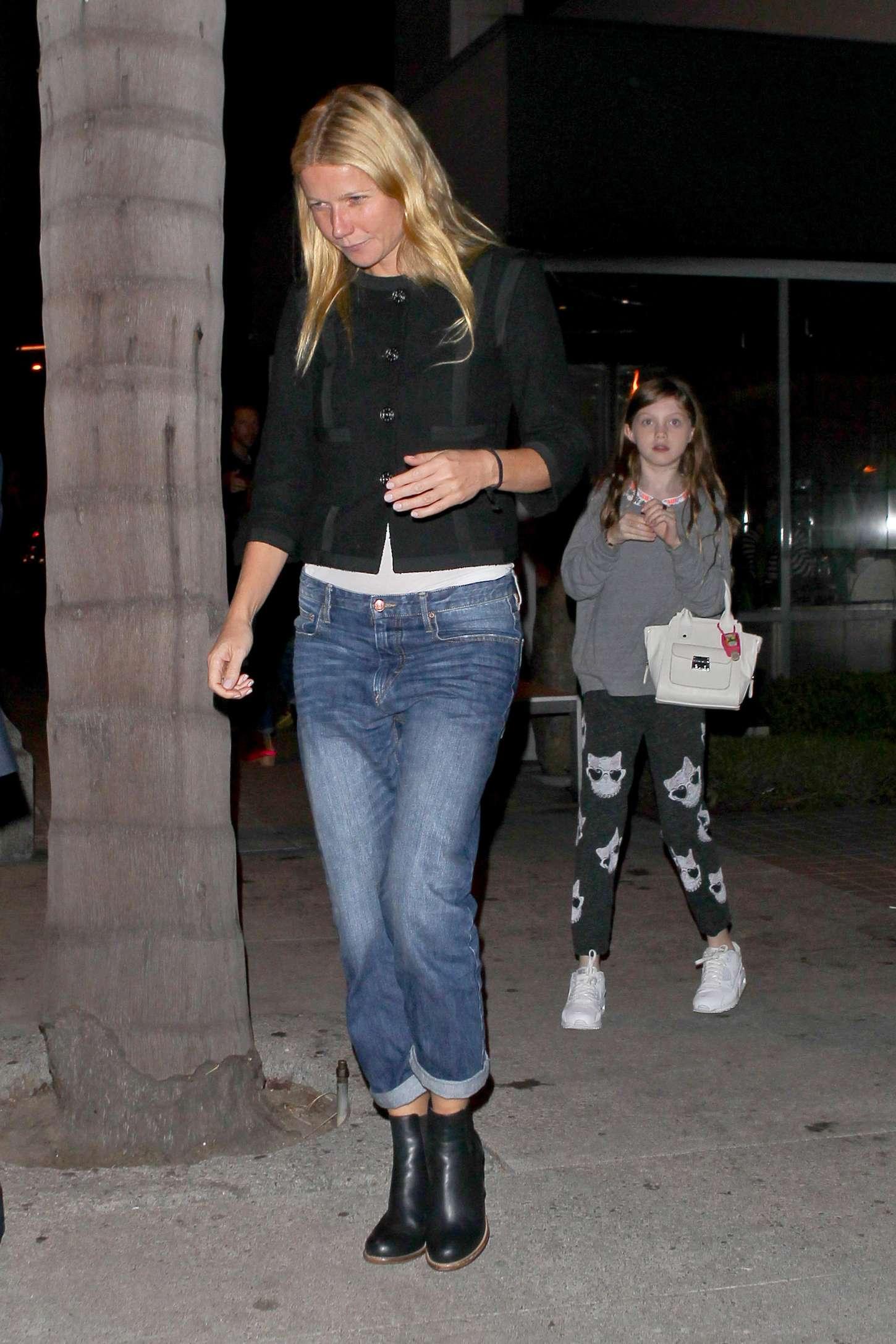 Gwyneth Paltrow At Katsuya Restaurant In Los Angeles Gotceleb
