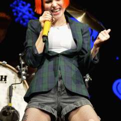 Gym Ball Chair Bar Height Adirondack Chairs Plans Hayley Williams - Performs At Q102's Jingle In Philadelphia Gotceleb