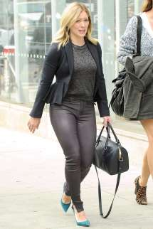 Hilary Duff In Leather Pants Younger Set -30 Gotceleb