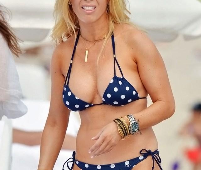 Jill Martin In Polka Dot Bikini In Miami