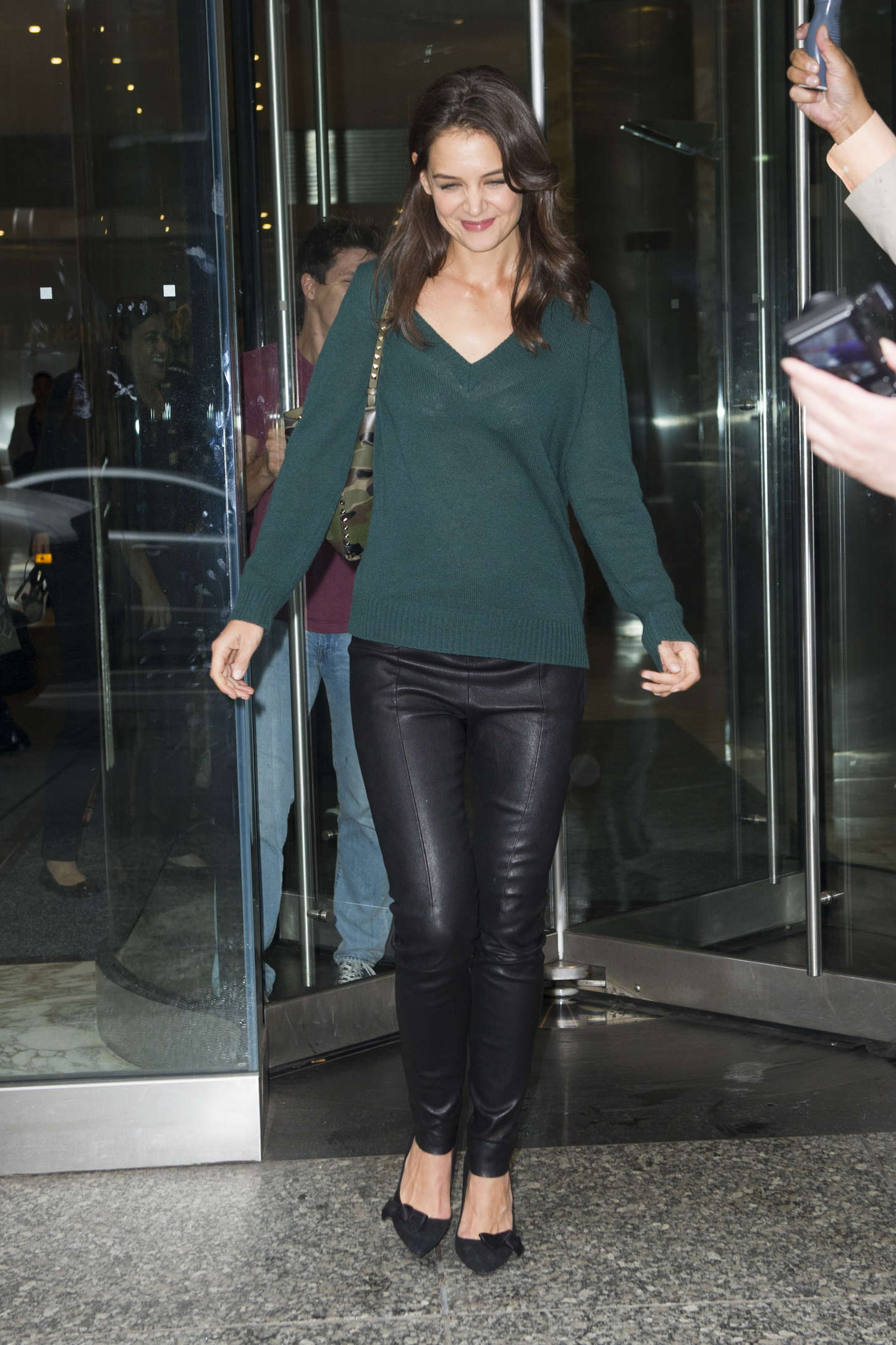 Katie Holmes In Leather Pants 09 GotCeleb