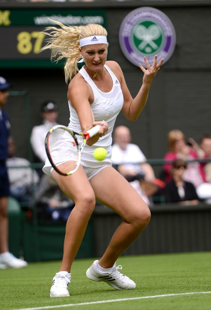 Kristina Mladenovic  Wimbledon 2013 Day 1 12  GotCeleb