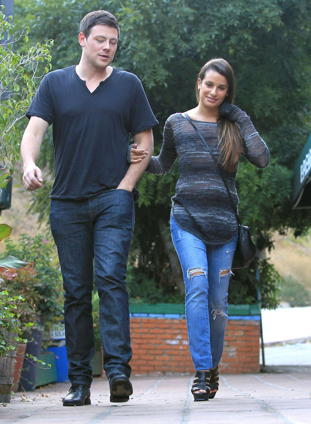 Lea Michele With Boyfriend At Pace Restaurant 02 Gotceleb