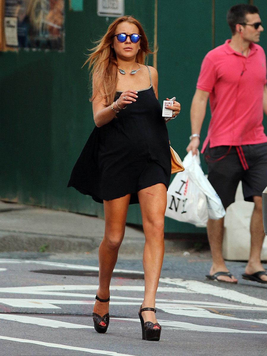 Lindsay And Ali Lohan Walking Around NYC GotCeleb