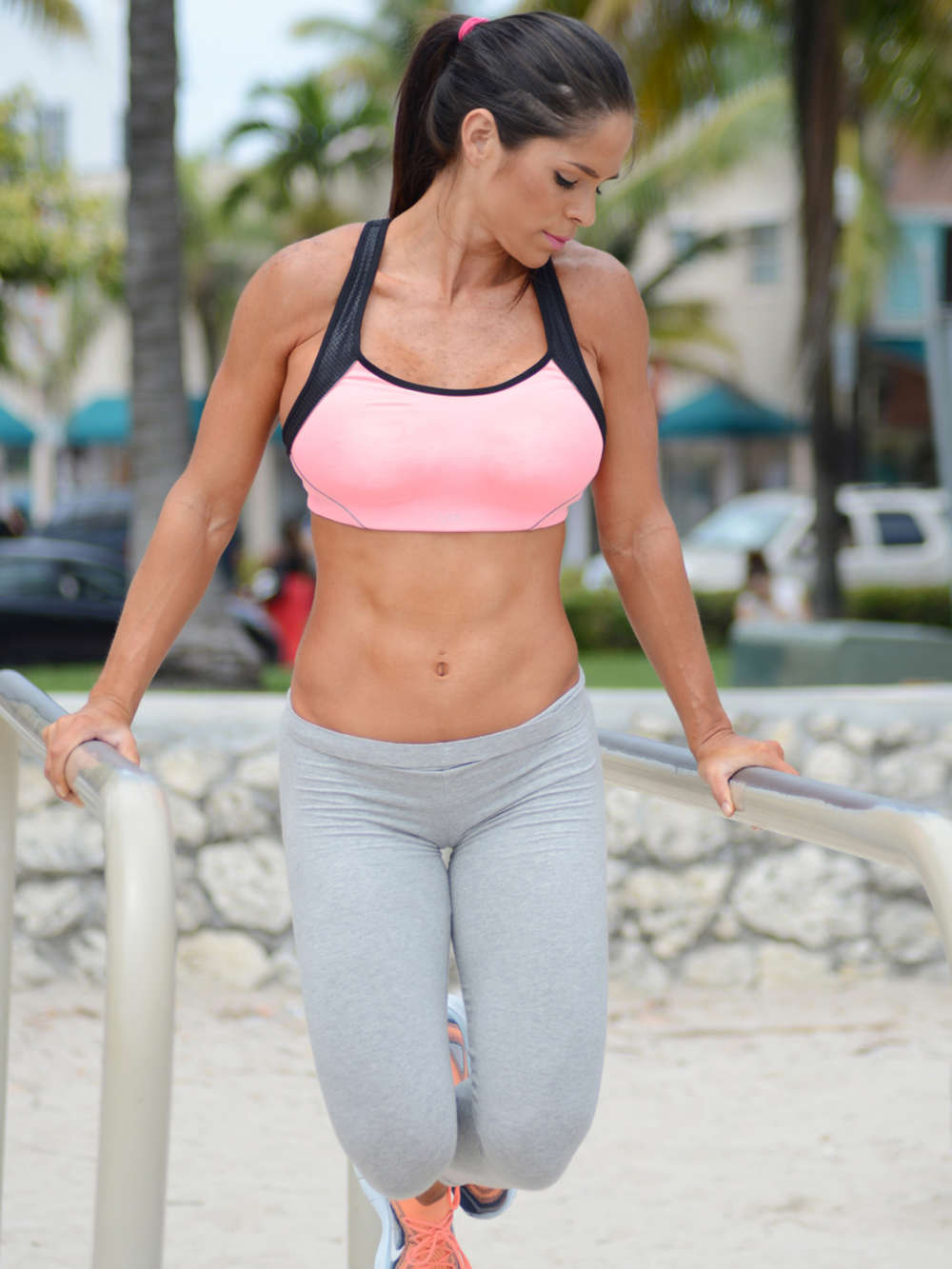 Girls Women With Beautiful Legs Wallpaper Michelle Lewin In Grey Yoga Pants 07 Gotceleb