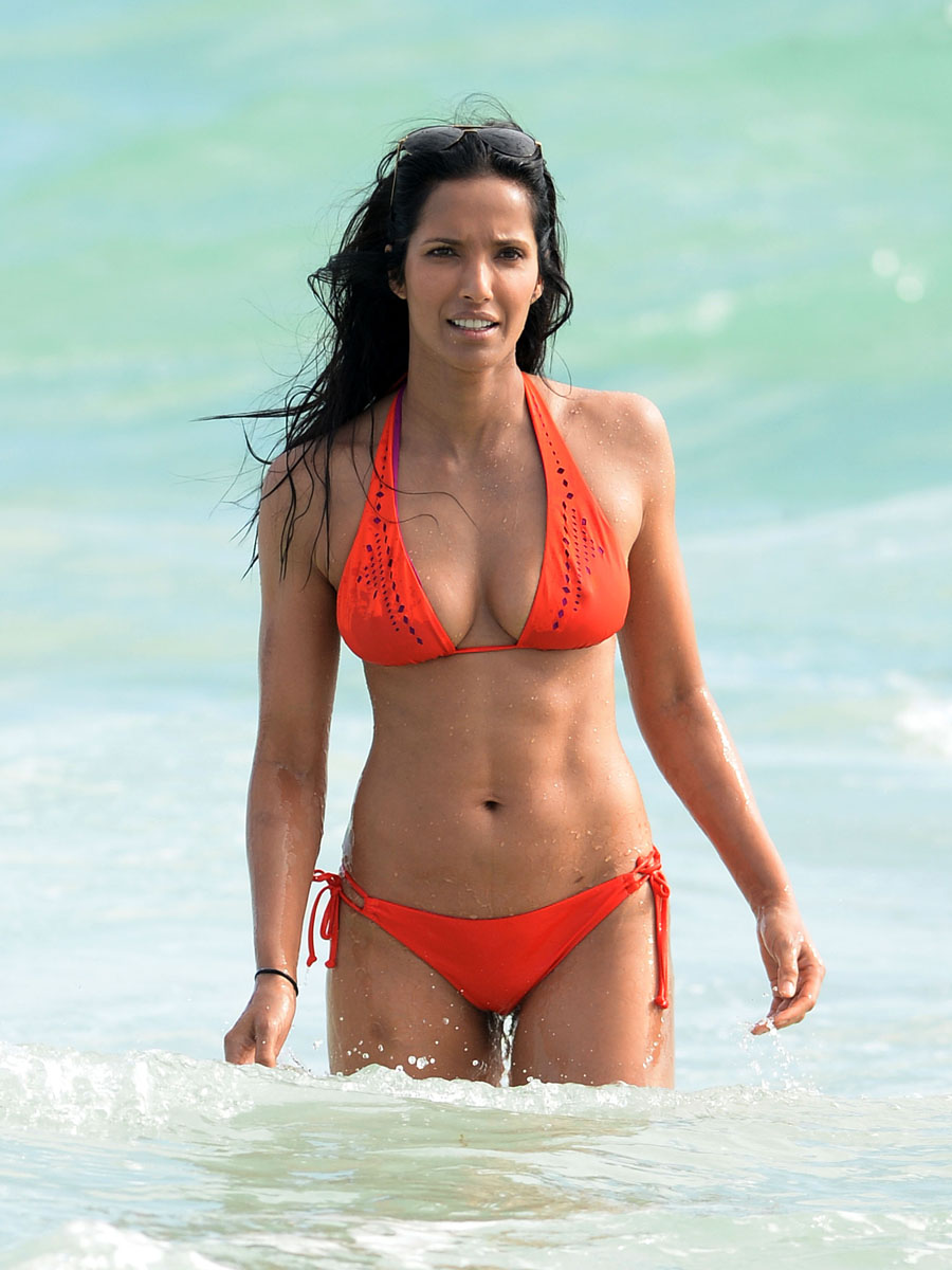 Padma Lakshmi Bikini Pics 2013 In Miami 21 GotCeleb