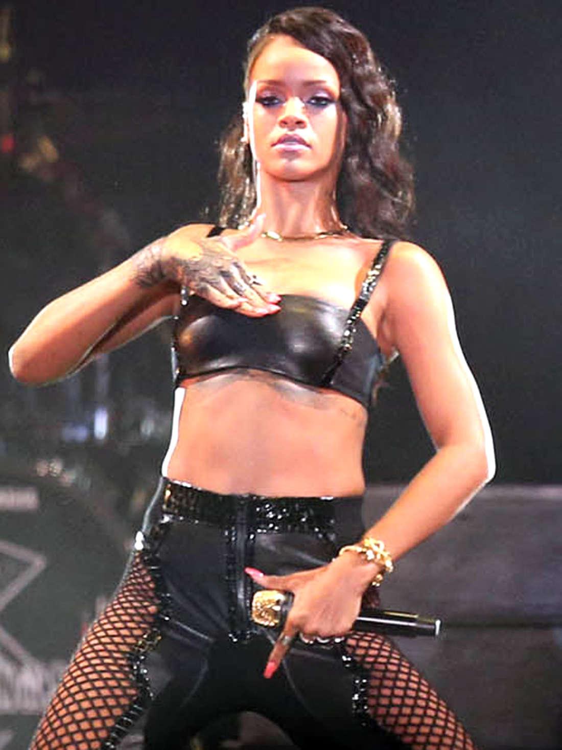 Rihanna in Leather 09  GotCeleb
