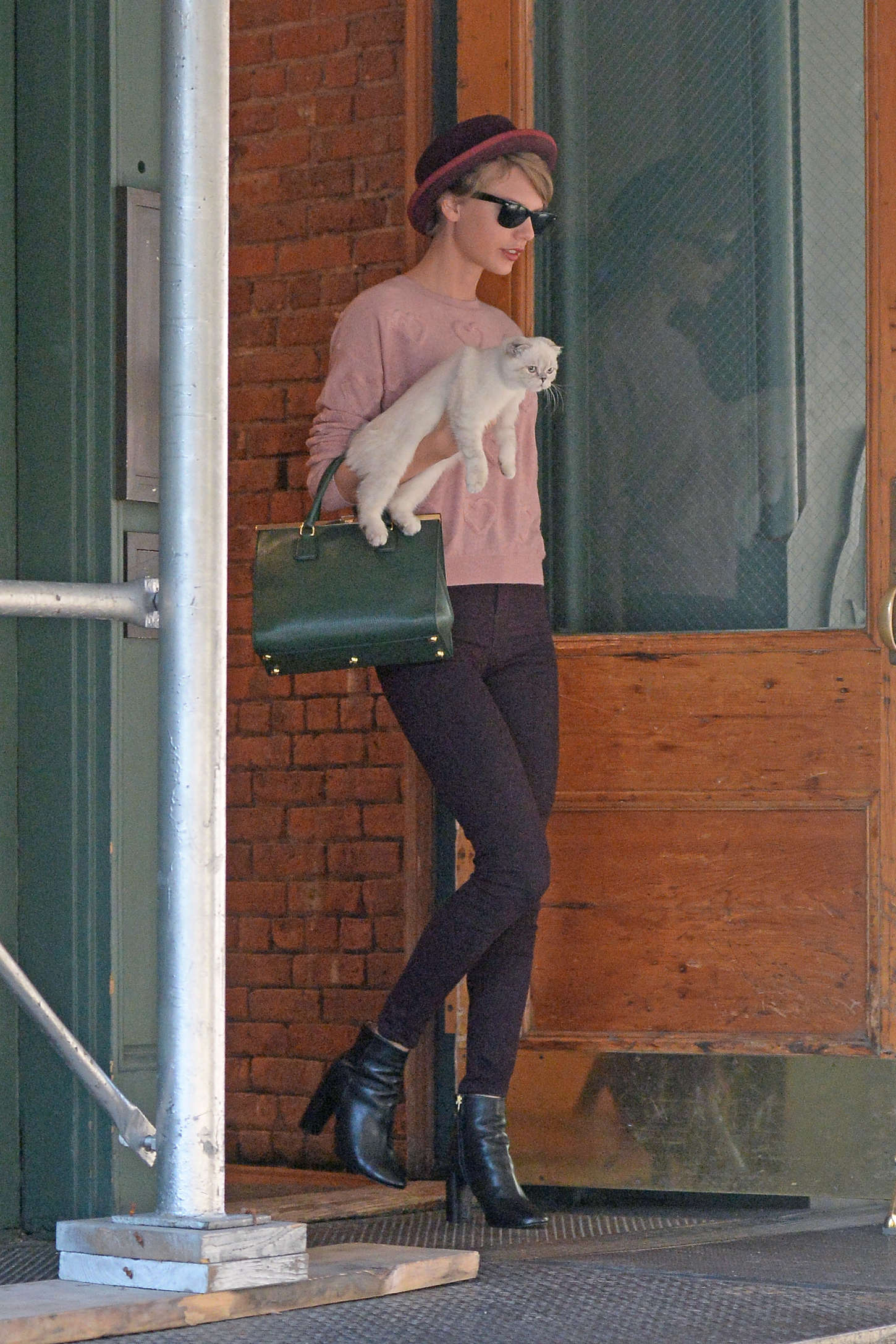 Taylor Swift in Tight Pants Out in New York City  GotCeleb