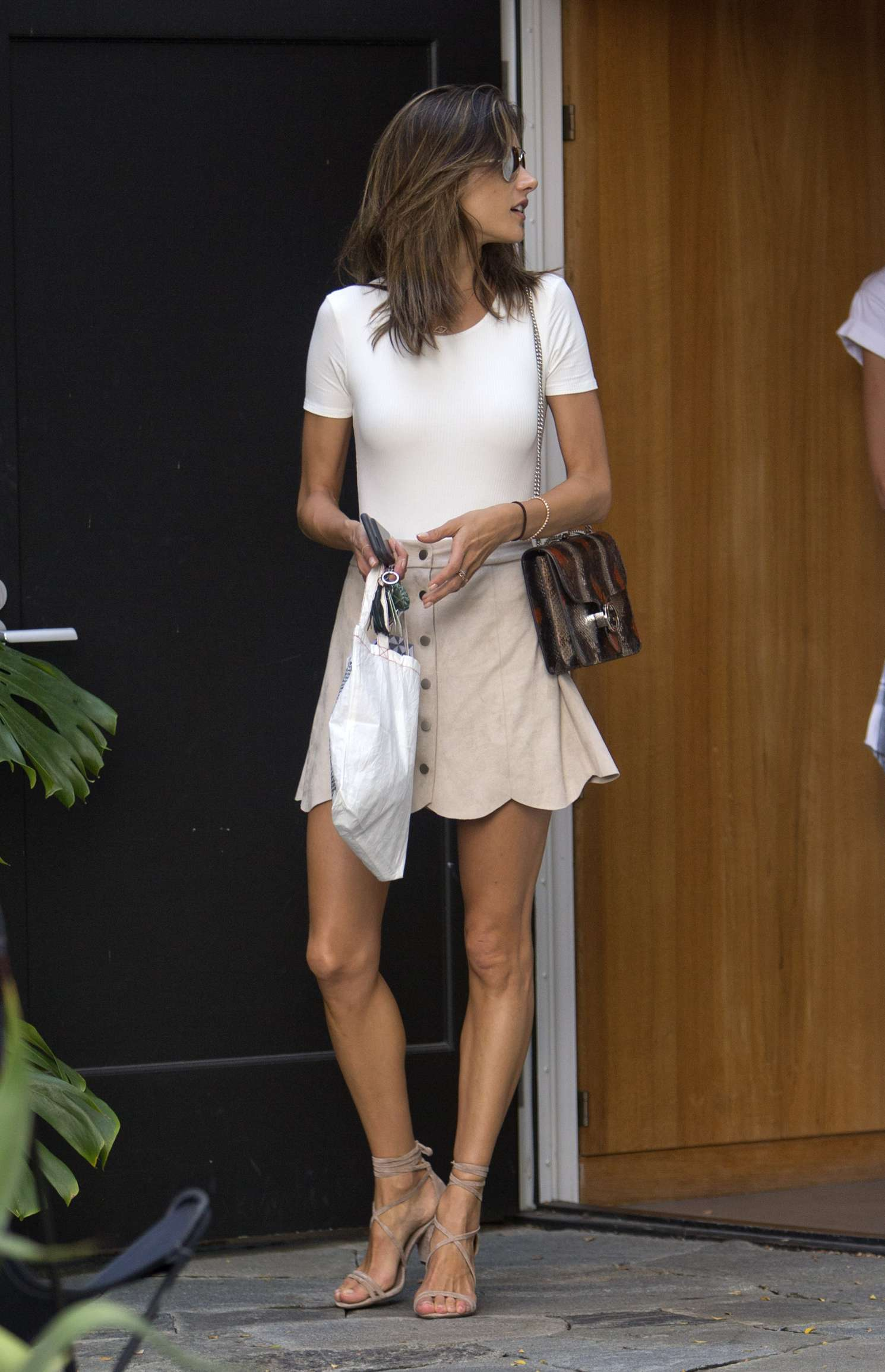 Alessandra Ambrosio In Mini Skirt 05 GotCeleb