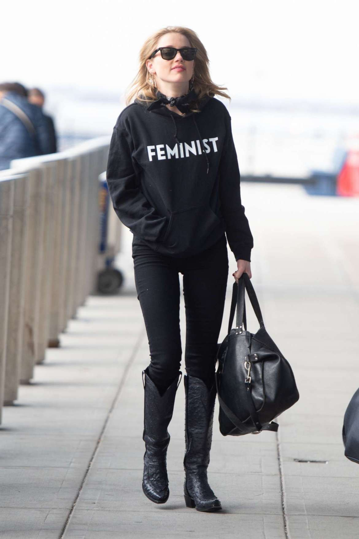 Amber Heard – Arrives at JFK airport in New York