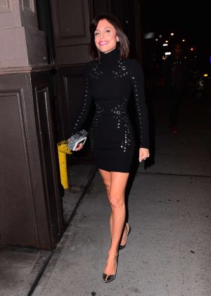 Bethenny Frankel in Black Mini Dress out in NYC  GotCeleb