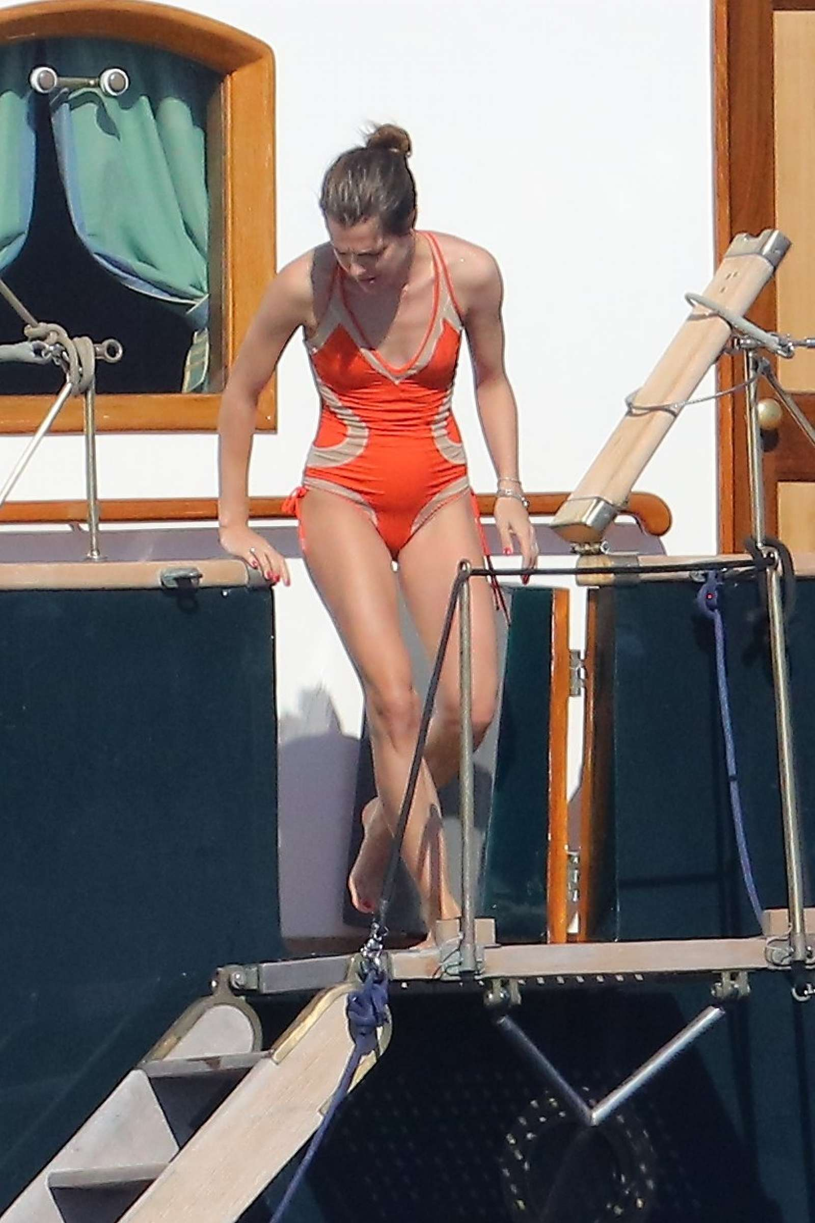 Charlotte Casiraghi In Swimsuit On A Boat Le Pacha III In St Tropez GotCeleb