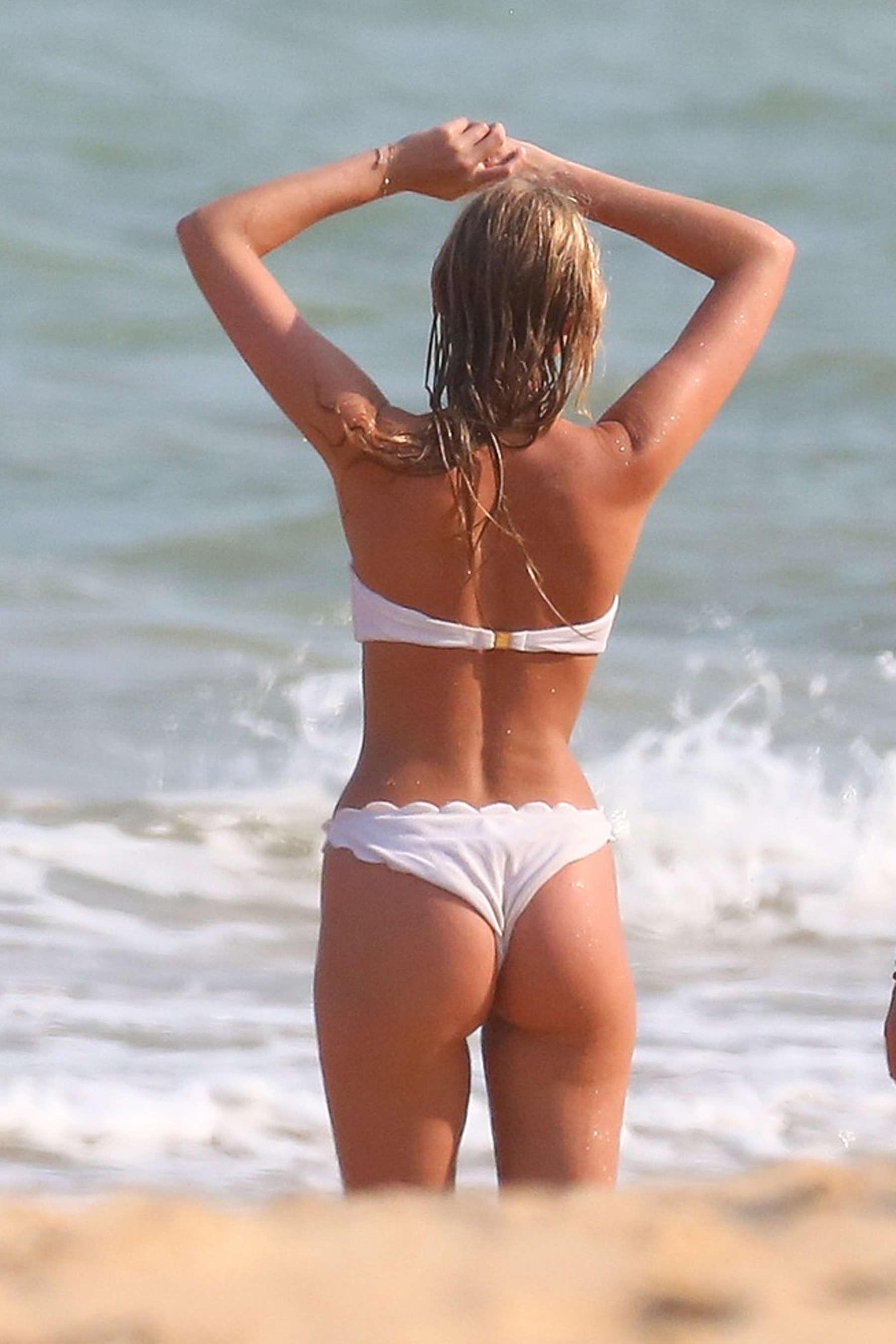 Elsa Hosk in White Bikini 48  GotCeleb