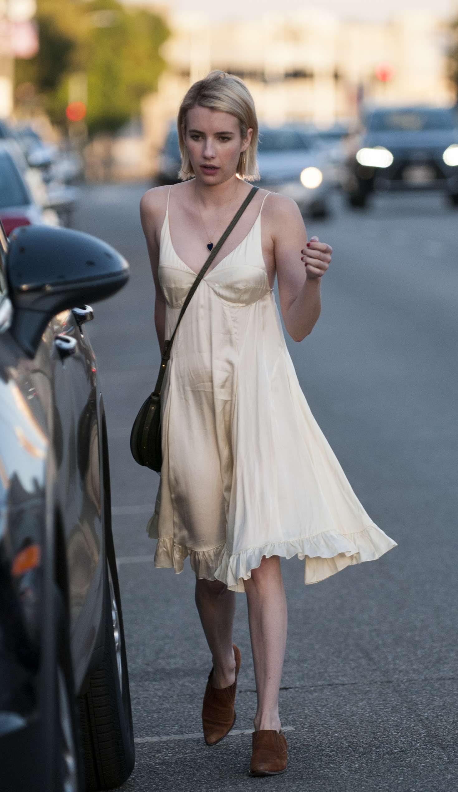 Emma Roberts in Dress out in LA