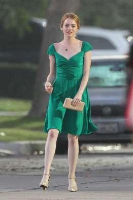 Risultati immagini per la la land green dress
