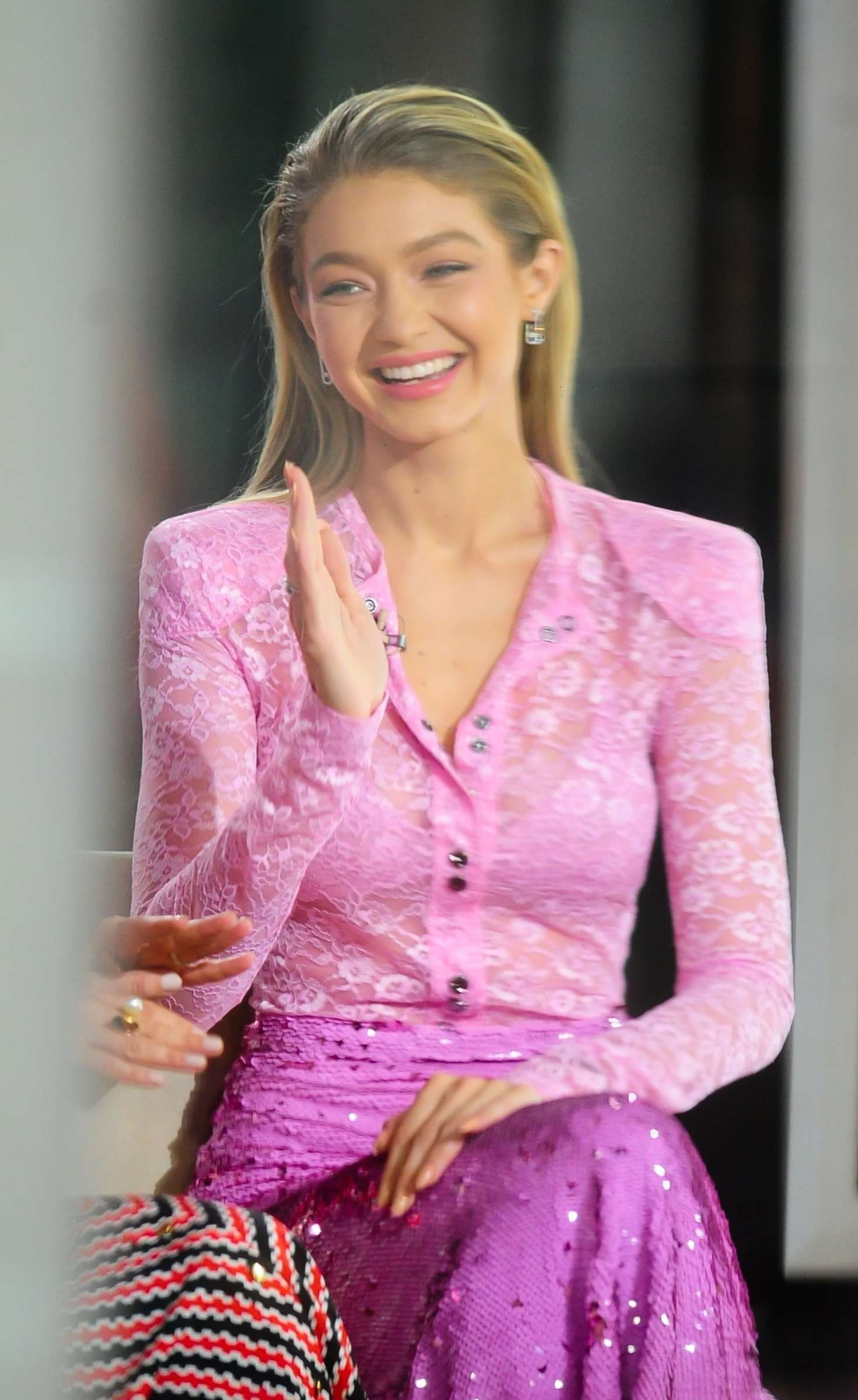 Gigi Hadid  Today Show at Rockefeller Center in New
