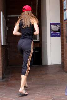 Out and About Hilary Swank
