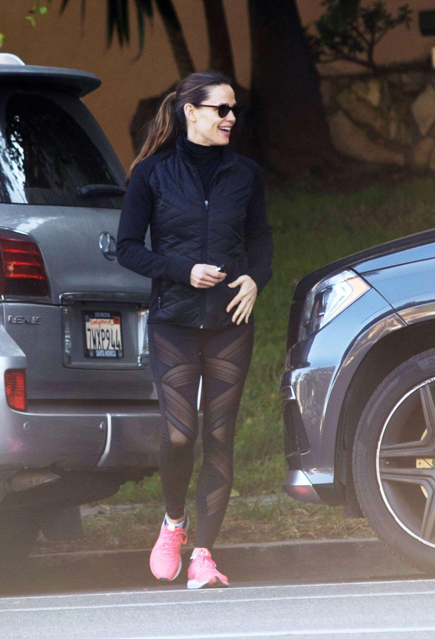 Jennifer Garner in Black Leggings out in Los Angeles  GotCeleb