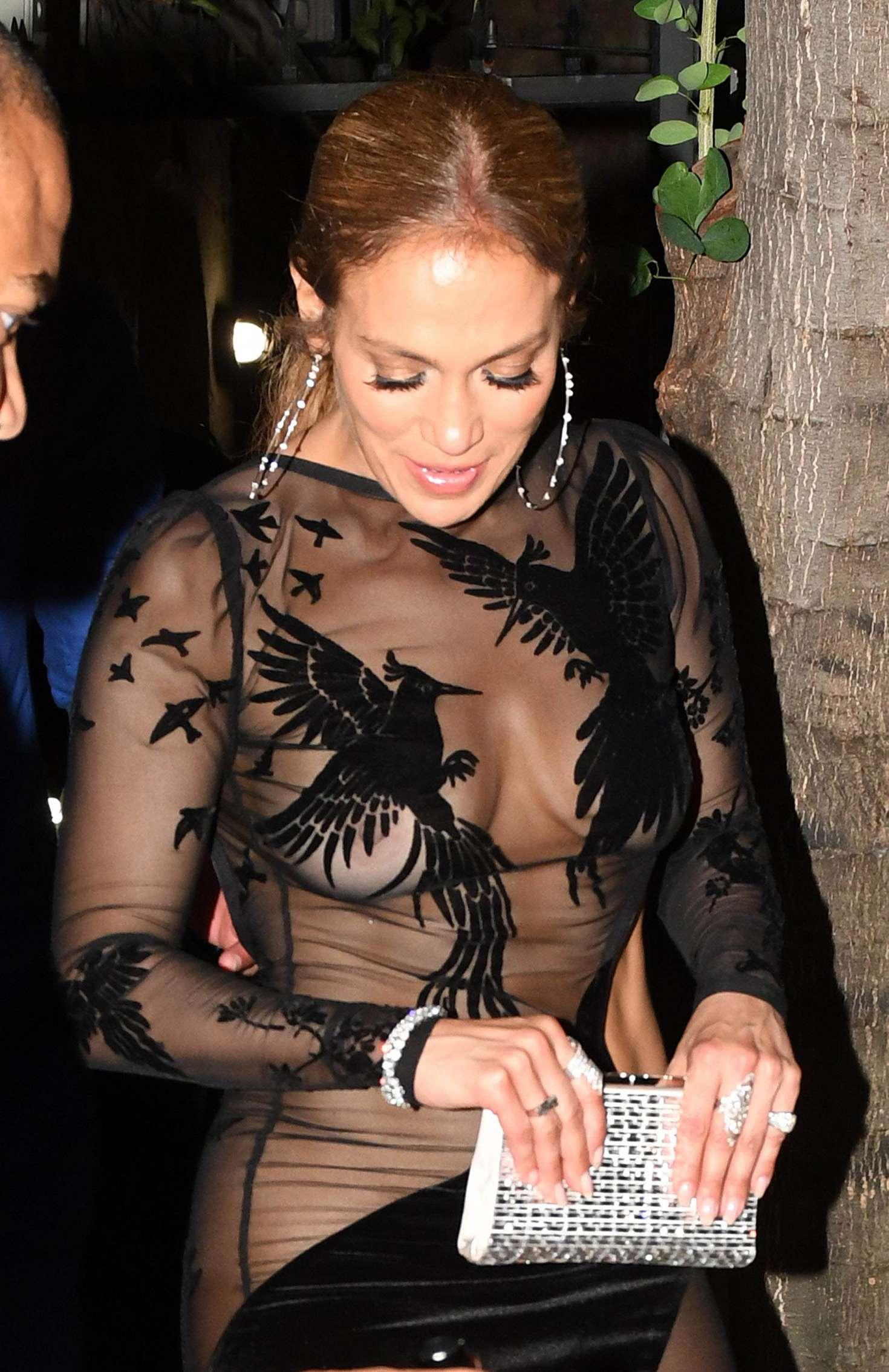 Jennifer Lopez in Black Mini Dress 31  GotCeleb