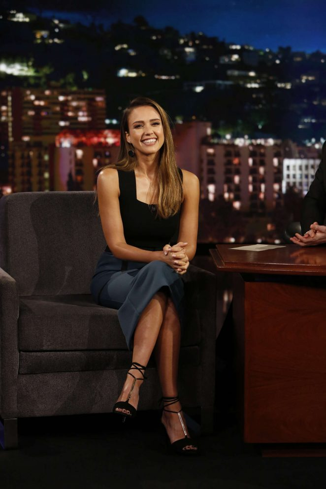 Jessica Alba at Jimmy Kimmel Live! in Los Angeles