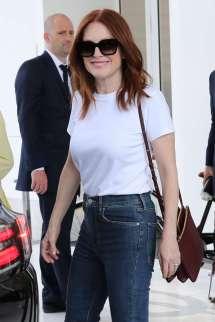 Julianne Moore Leaves Hotel Martinez In Cannes Gotceleb