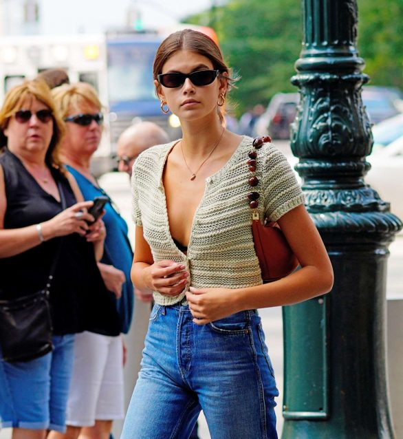 kaia gerber out and
