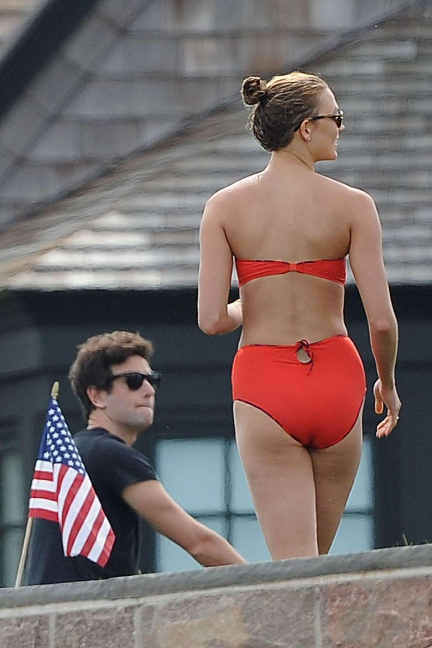Karlie Kloss in Red Bikini 2016 07  GotCeleb